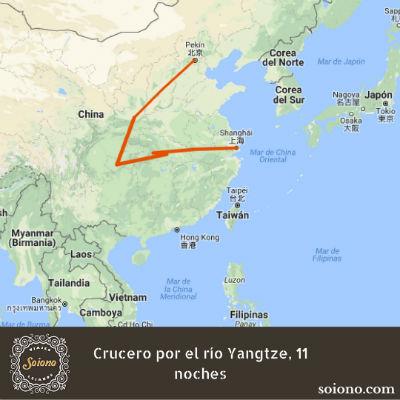 Crucero por el río Yangtze, 11 noches