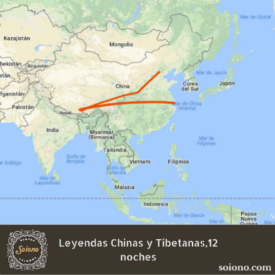 Leyendas Chinas y Tibetanas, 15 días