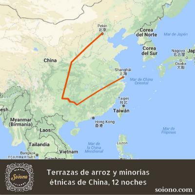 Terrazas de arroz y minorías étnicas de China, 12 noches