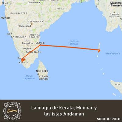 La magia de Kerala, Munnar y las islas Andamán