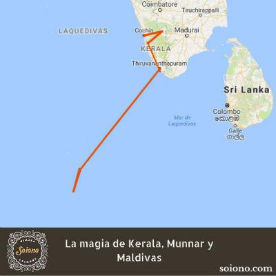 La magia de Kerala, Munnar y Maldivas
