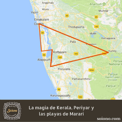 La magia de Kerala, Periyar y las playas de Marari