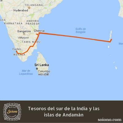 Tesoros del sur de la India y las islas Andamán