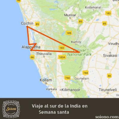 Viaje al sur de la India en Semana Santa 2020