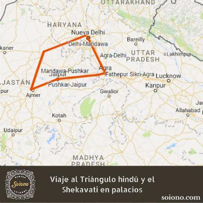 Viaje al Triángulo hindú y el Shekavati en palacios