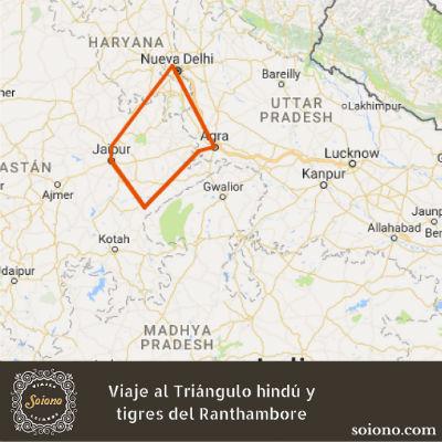 Viaje al Triángulo hindú y tigres del Ranthambore