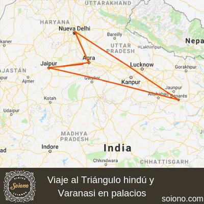 Viaje al Triángulo hindú y Varanasi en palacios