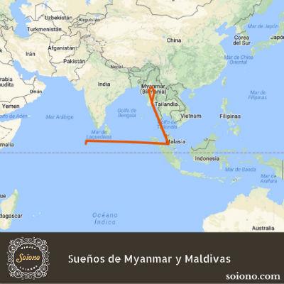 Sueños de Myanmar y Maldivas