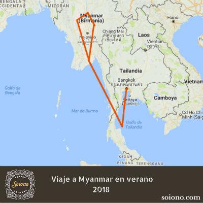 Viaje a Myanmar en verano 2018