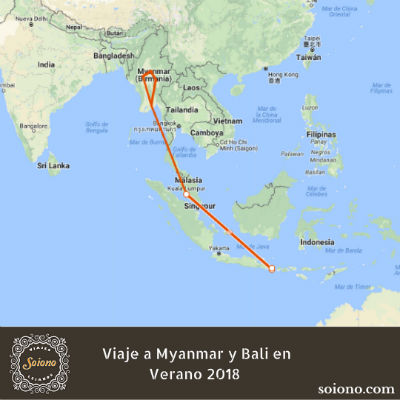 Viaje a Myanmar y Bali en Verano 2018