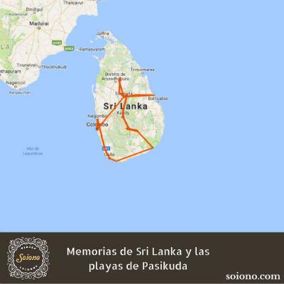 Memorias de Sri Lanka y las playas de Pasikuda