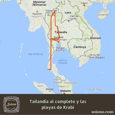 Tailandia al completo y las playas de Krabi